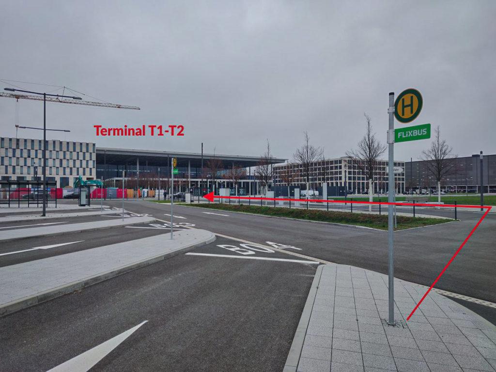 przystanek follow me berlin brandenburg, berlin ber t1 follow me, przystanek follow me ber t1, przystanek interglobus follow me brandenburg t1